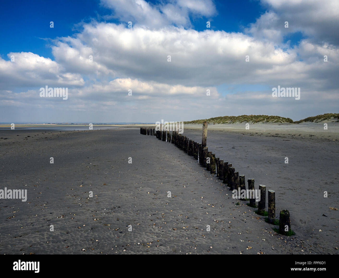 The sandy beaches of West Wittering, West Sussex - Stock Image