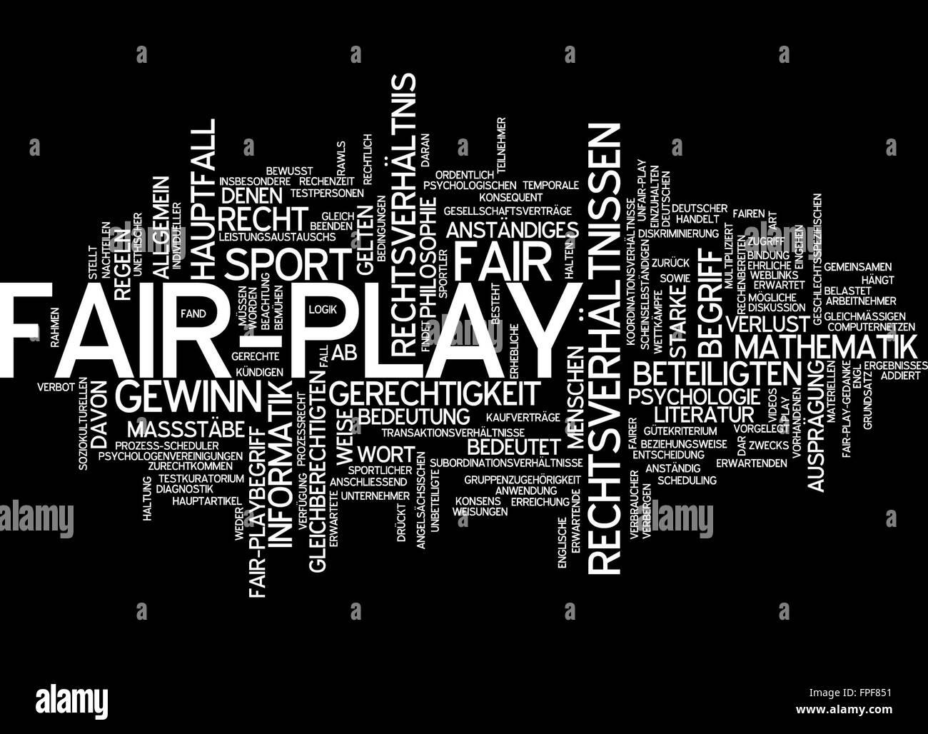 fair play fairplay fair-play fairness sport - Stock Image