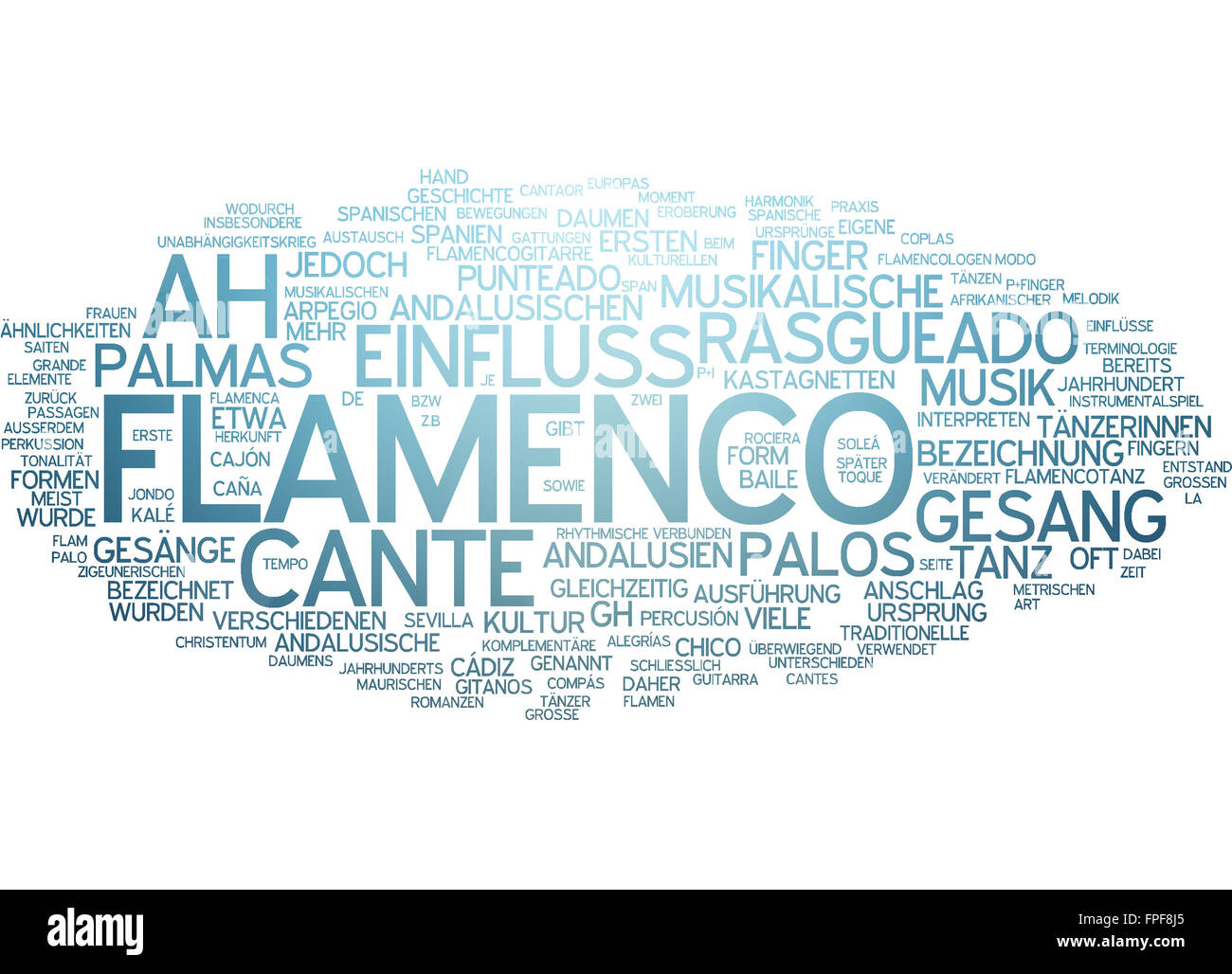 Flamenco Tanz Dance Tanzen Rasgueado Gesang Palos - Stock Image