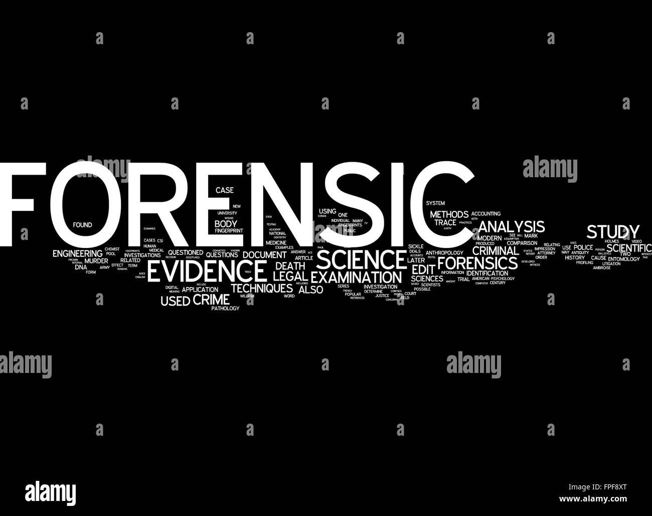 forensic science evidence analysis examination - Stock Image