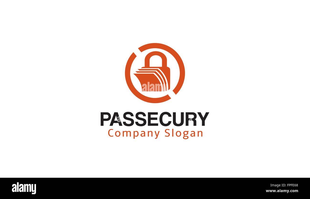 Password Security Design Illustration - Stock Image