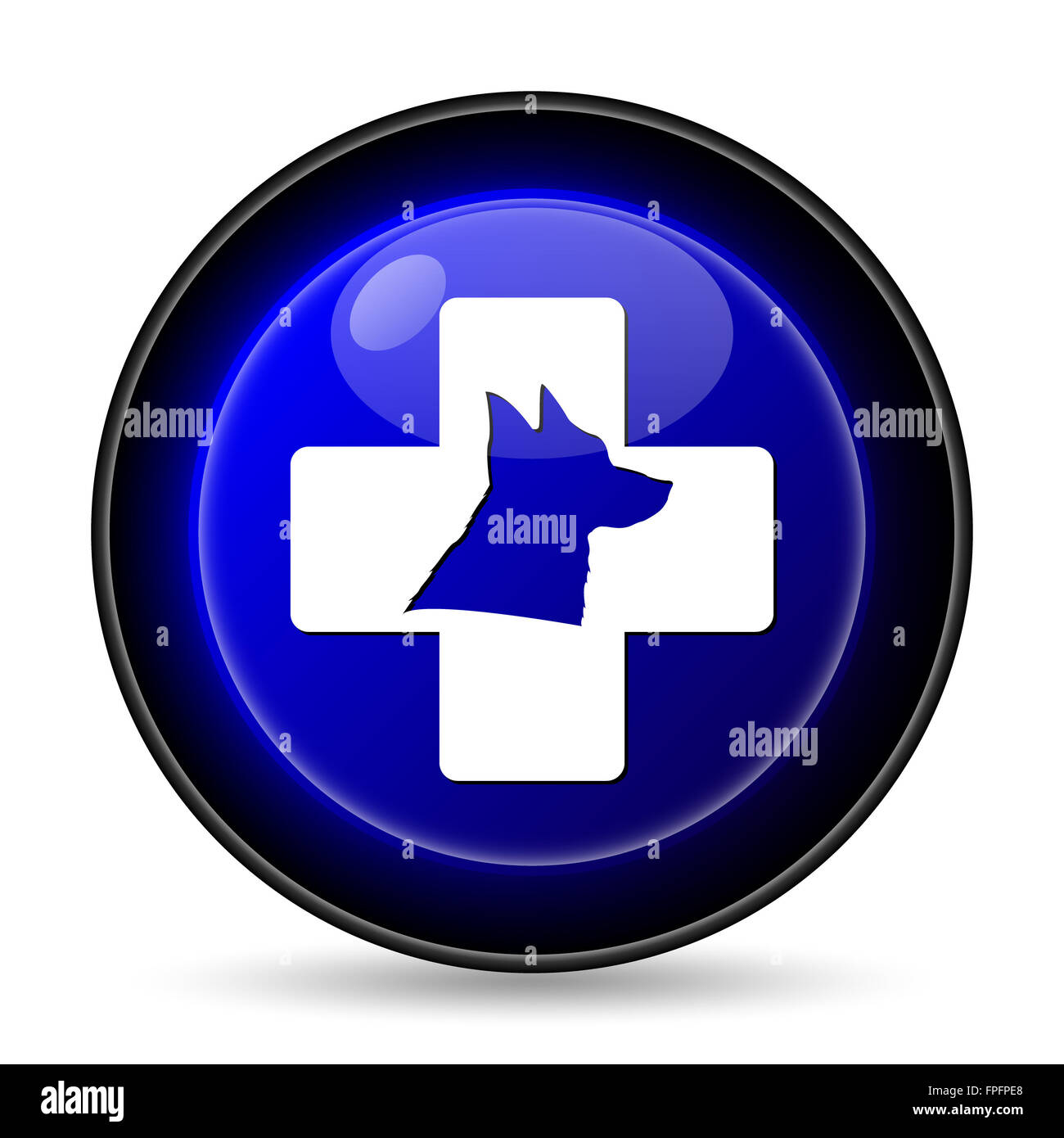 Veterinary icon. Internet button on white background. - Stock Image