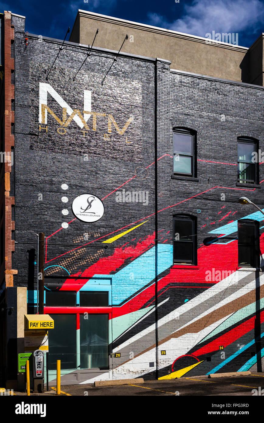 Downtown Building Decoration. Denver. Colorado.USA. - Stock Image