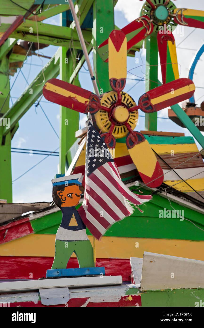 Hamtramck, Michigan - Hamtramck Disneyland, a folk art installation built by Ukranian immigrant and retired General - Stock Image