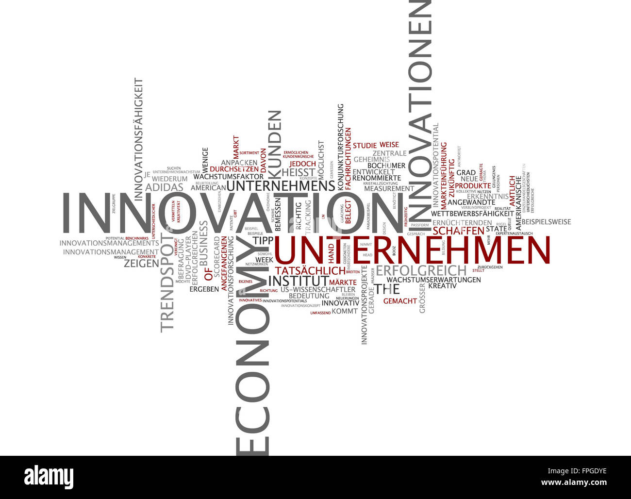 innovation economy innovationen unternehmen Stock Photo