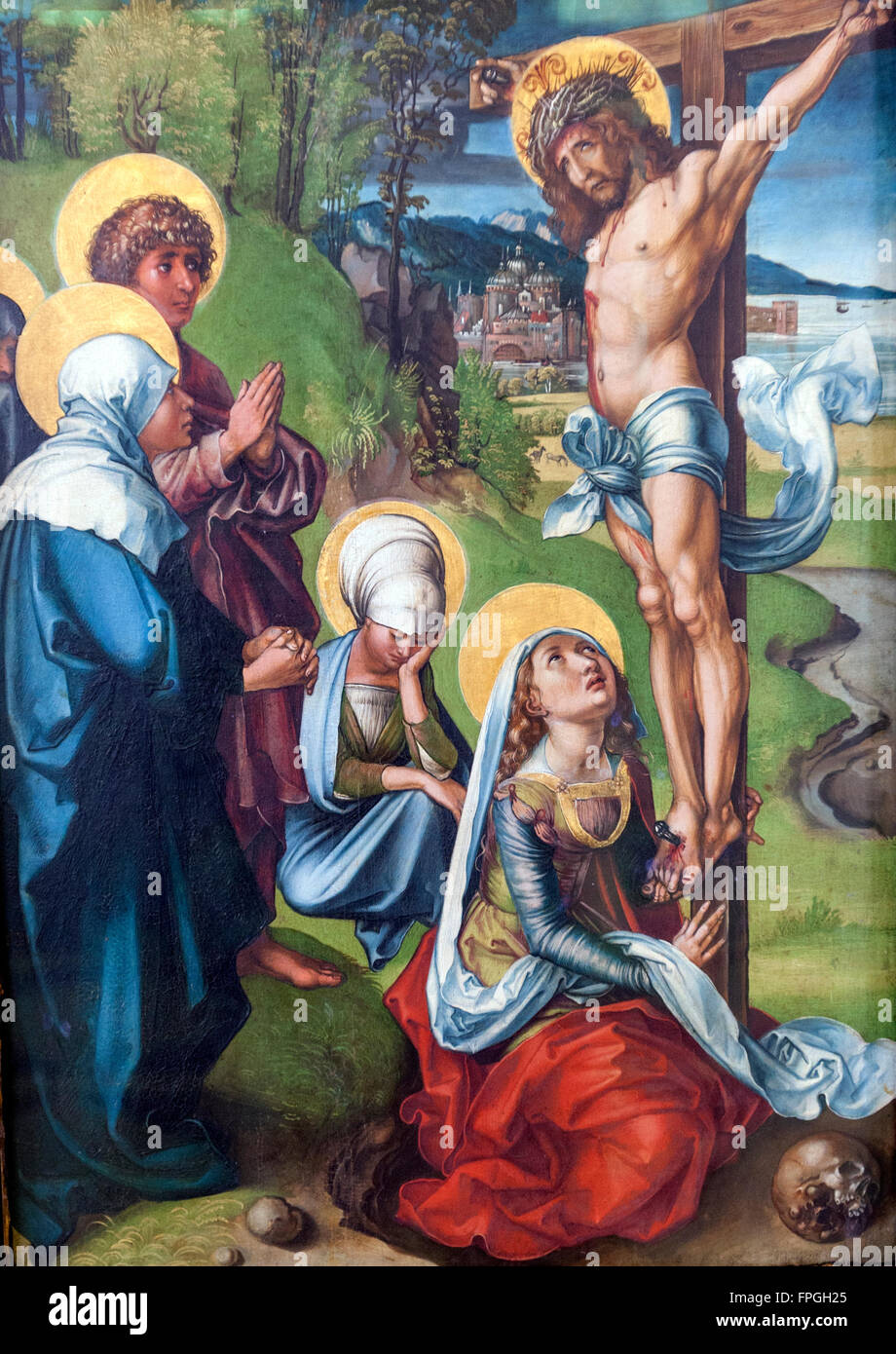 One of the Albrecht Dürer: Seven Sorrows: Crucifixion in Gemäldegalerie Alte Meister, Dresden, Saxony, Germany Stock Photo