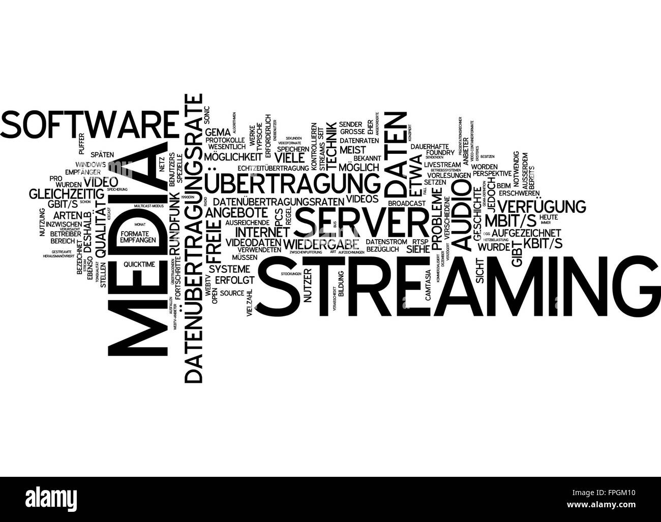 streaming media streaming media livestream - Stock Image