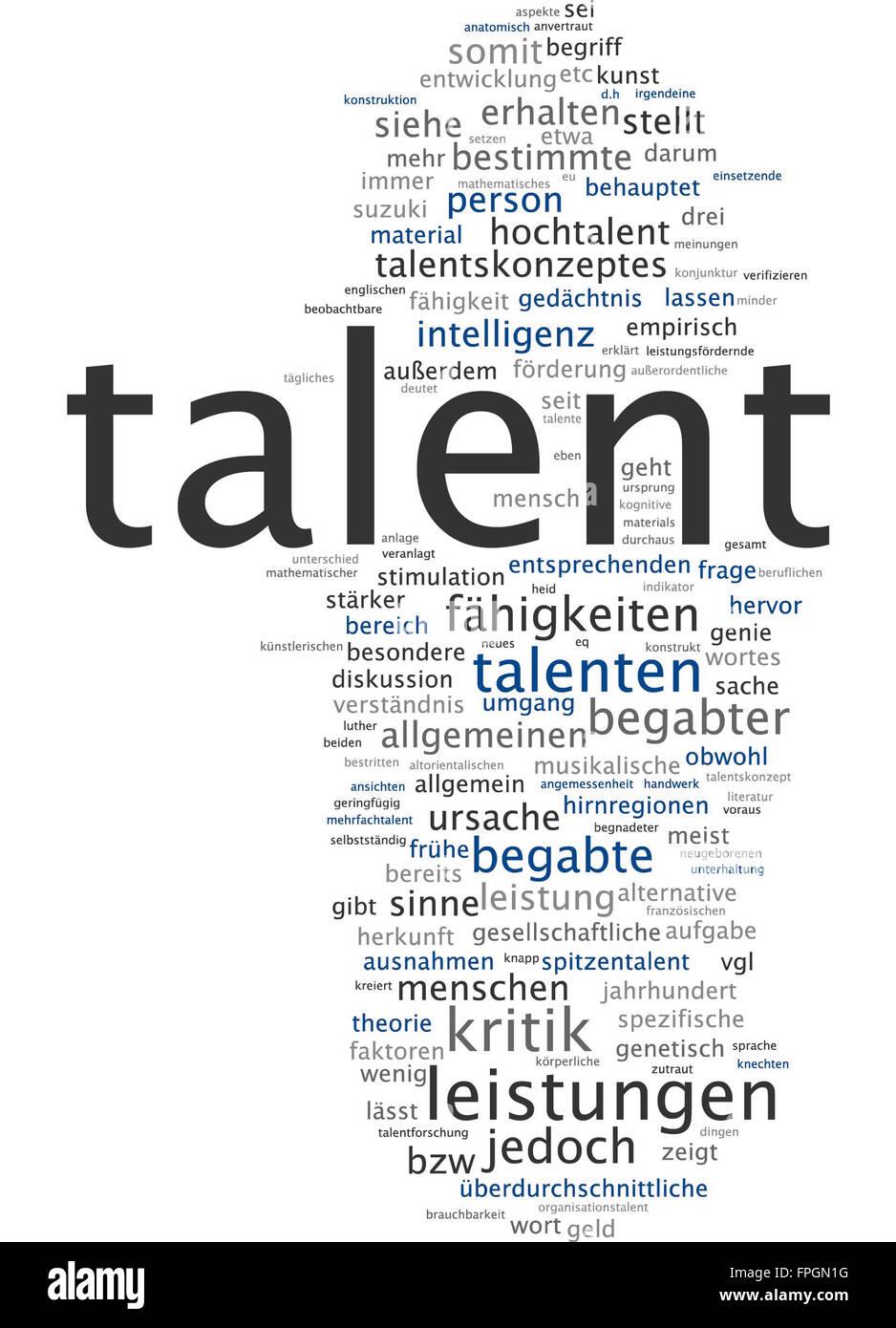 talent leistungen leistung talenten begabter - Stock Image