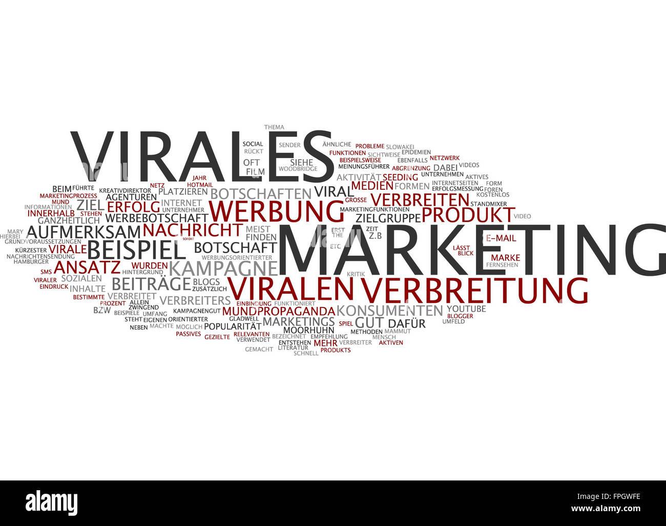 Virales Marketing Virales Viral Marketing Werbung - Stock Image