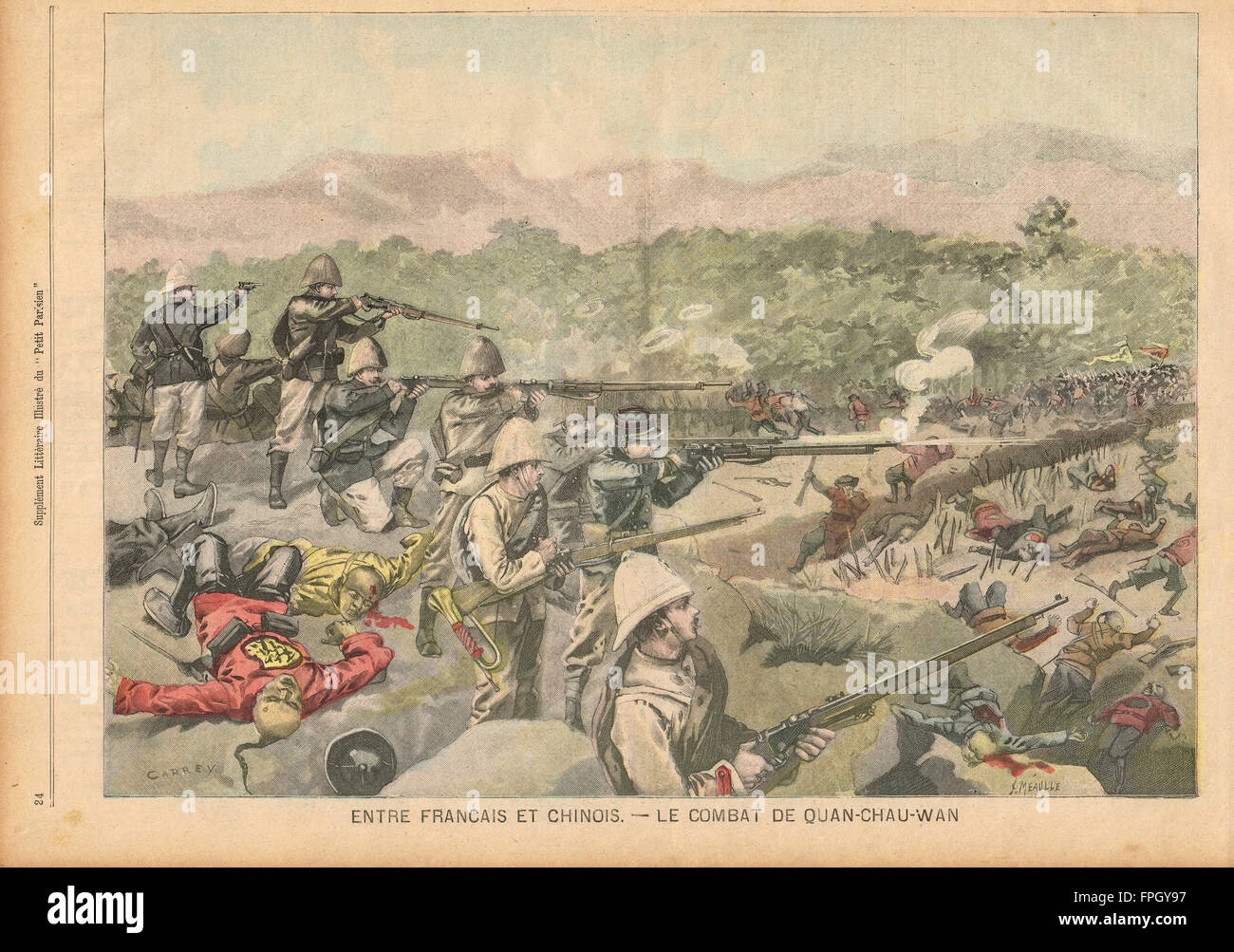 The French in China Boxer rebellion 1900 - Stock Image