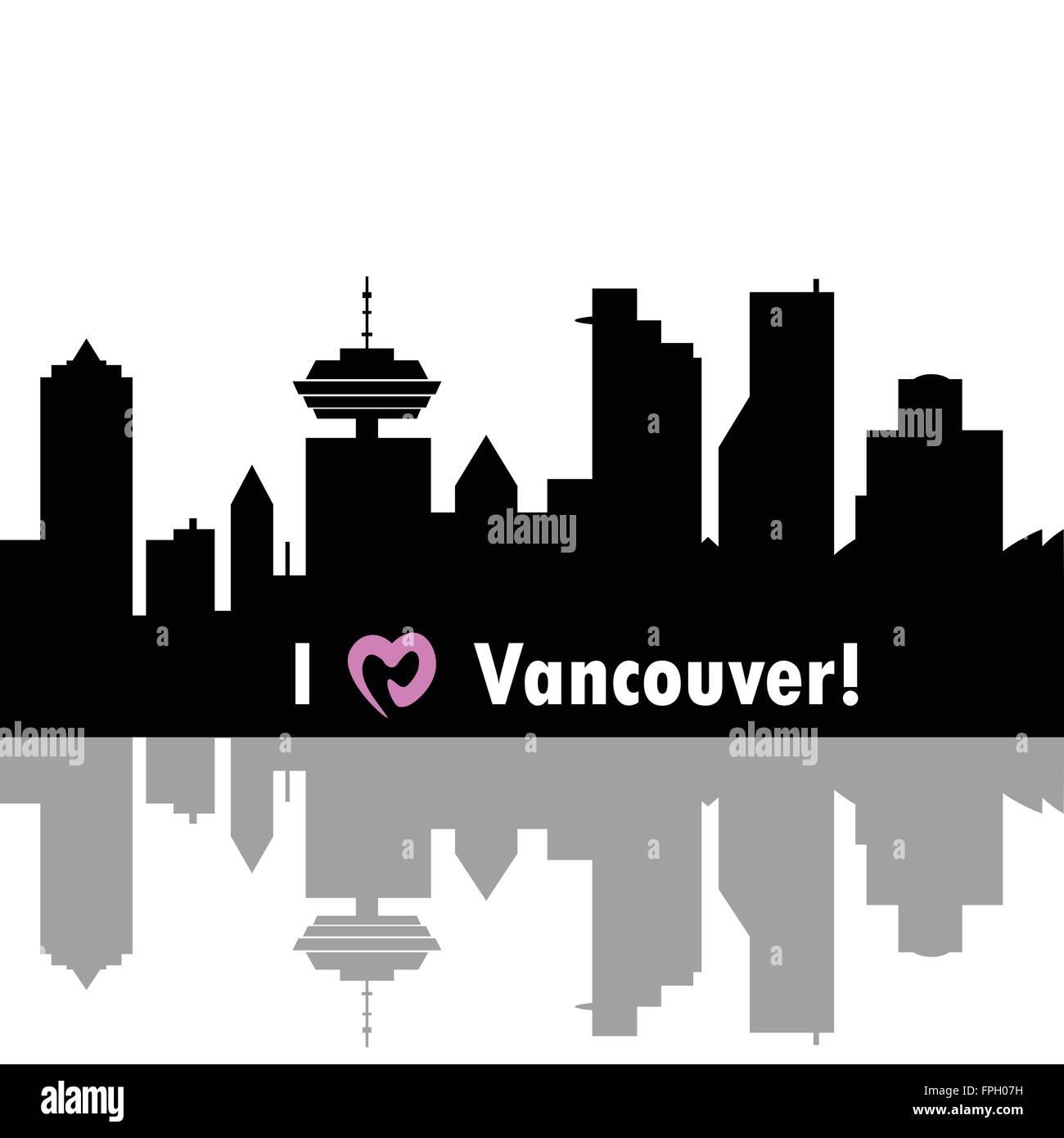 I love Vancouver - Stock Vector