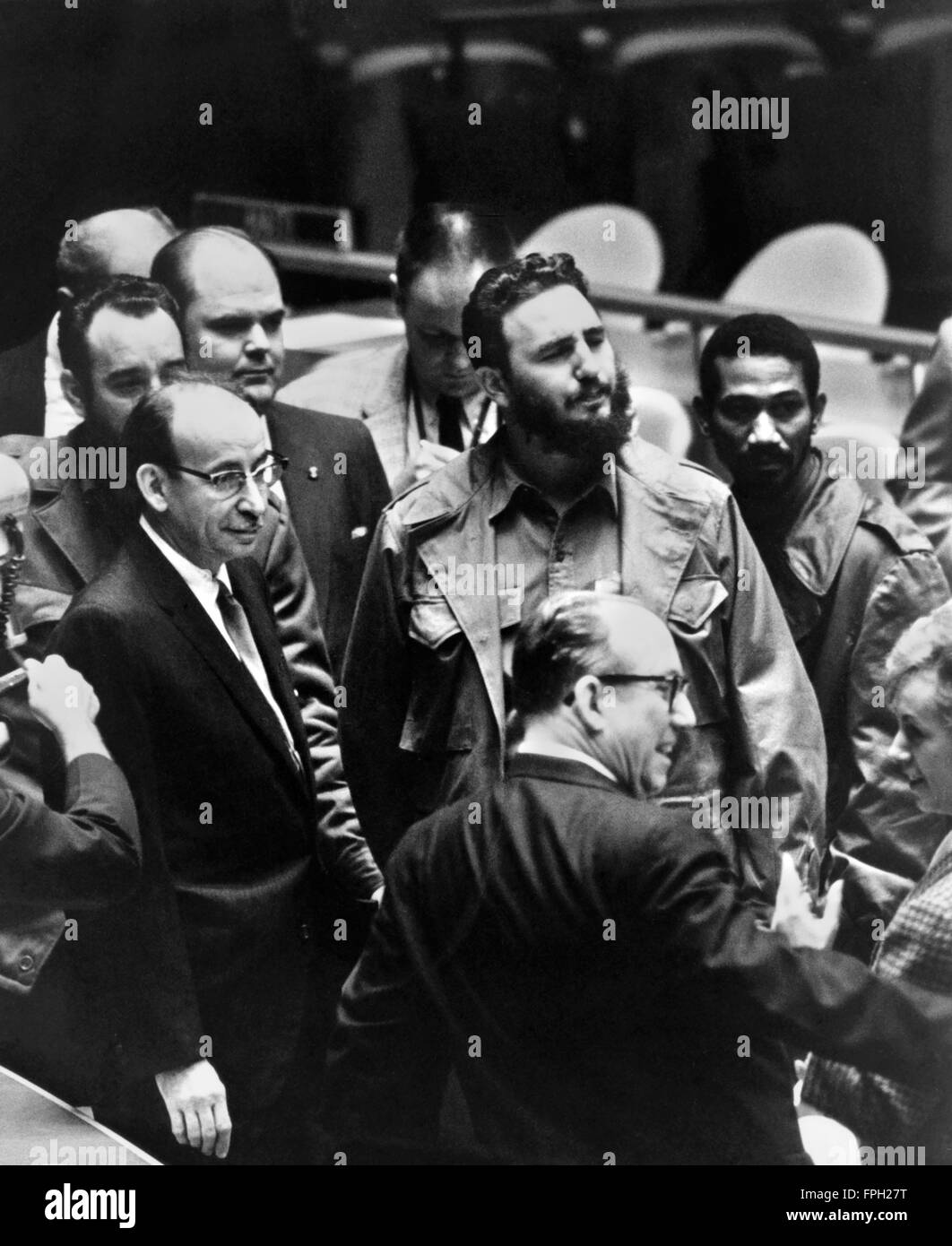 Fidel Castro at the United Nations General Assembly in September 1960. - Stock Image