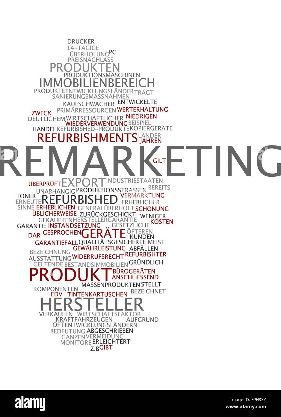 Remarketing Marketing Vermarktung Verkauf - Stock Image