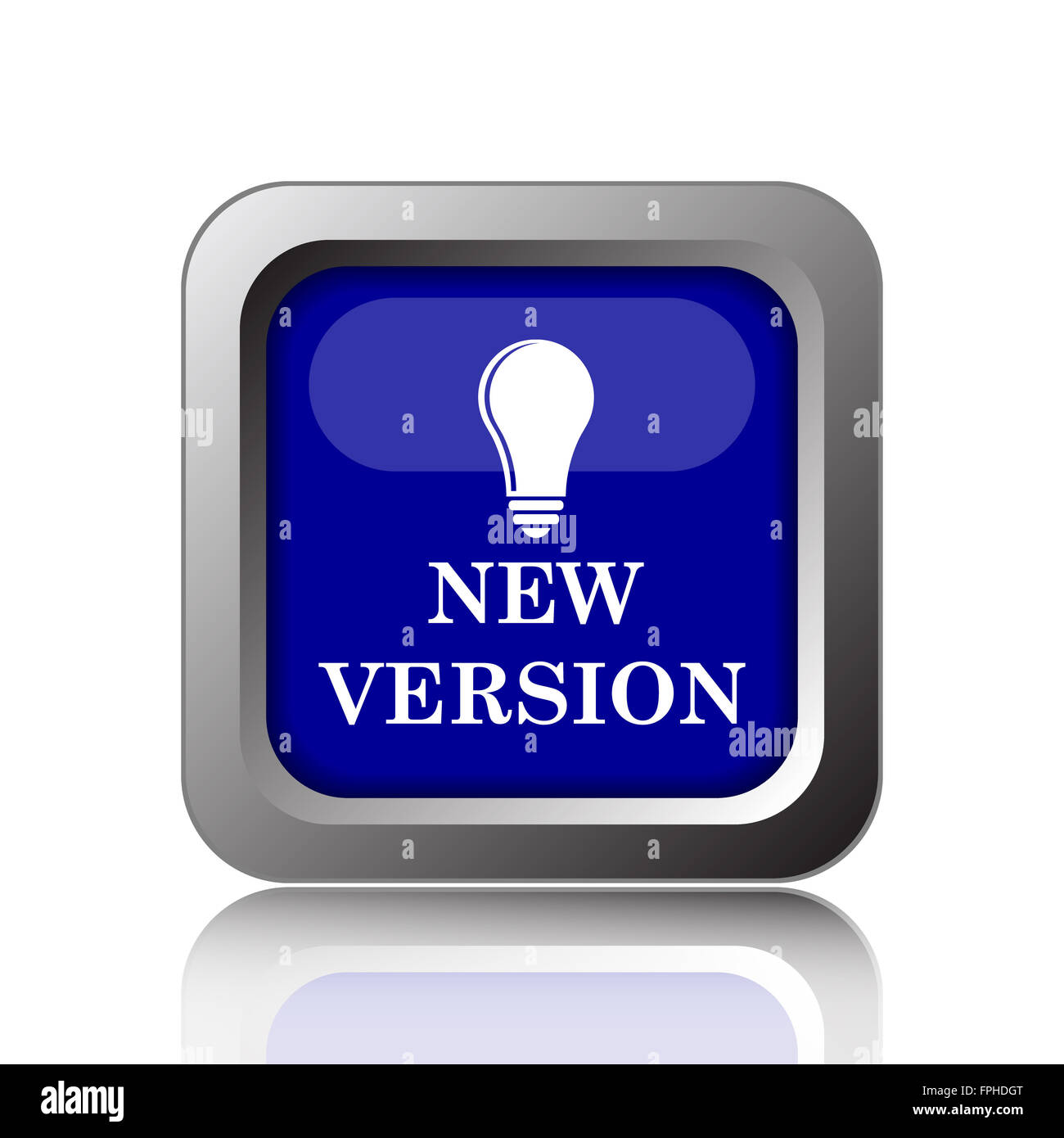 New version icon. Internet button on white background. - Stock Image