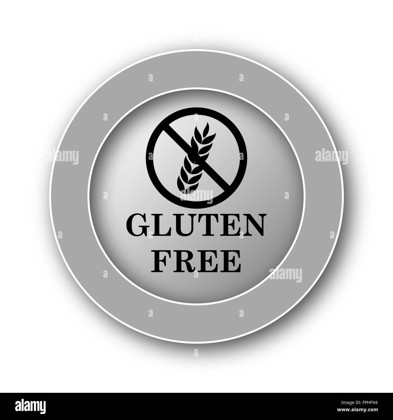 Gluten free icon  Internet button on white background Stock Photo