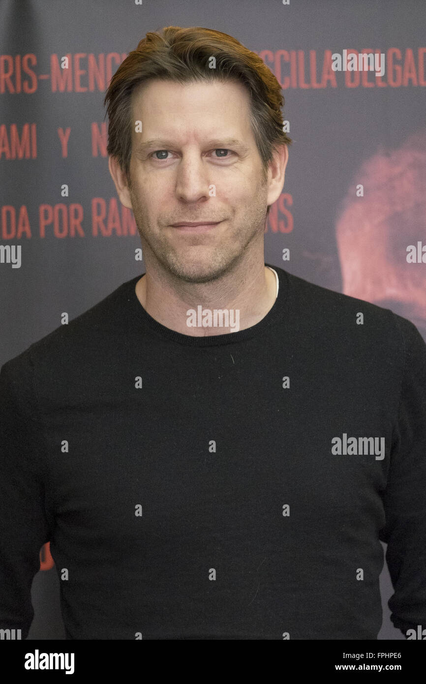 Actor Andrew Tarbet attends the 'El Mal Que Hacen Los Hombres' photocall held at the Cine Palafox  Featuring: - Stock Image