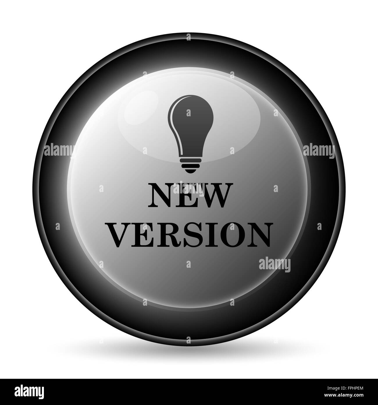 New version icon. Internet button on white background. - Stock Image