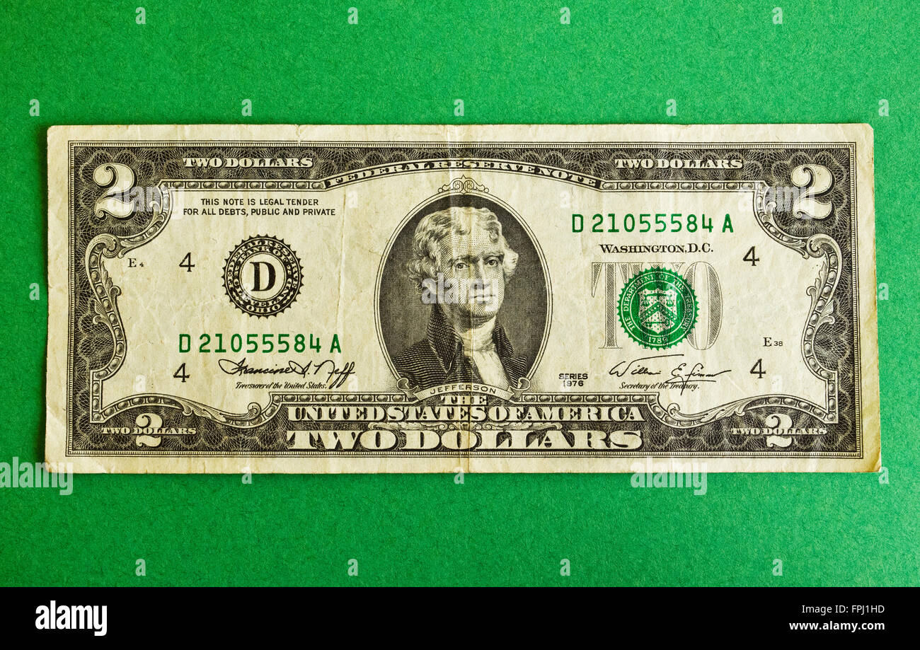 The Two Dollar Bill Is A United States Bank Note Denomination Not In Common Circulation And