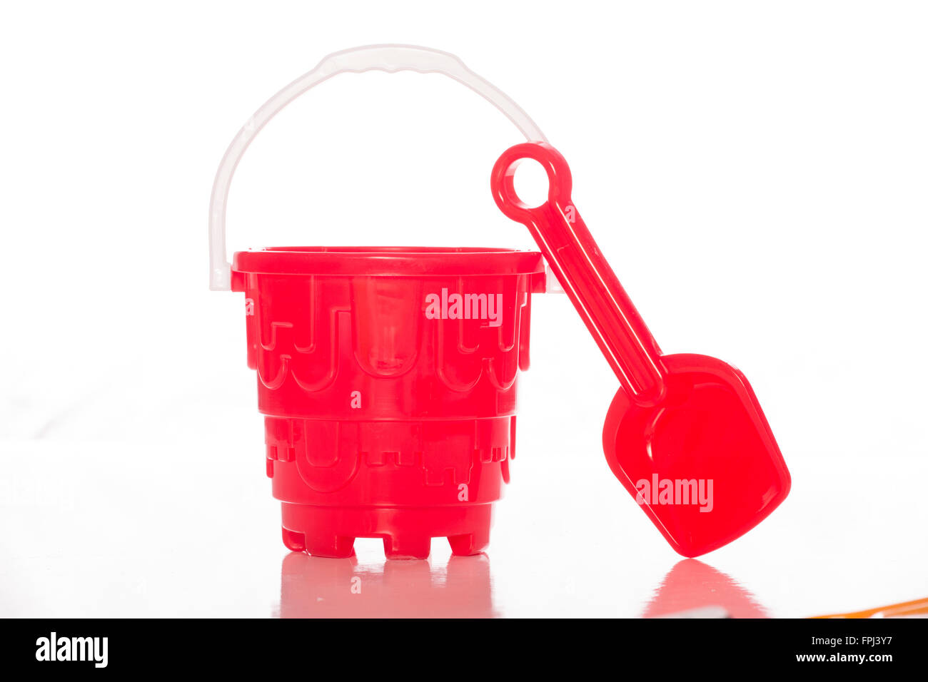 Spade and Bucket cutout - Stock Image