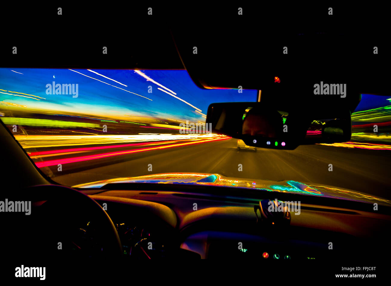 Time warp behind the wheel - Stock Image