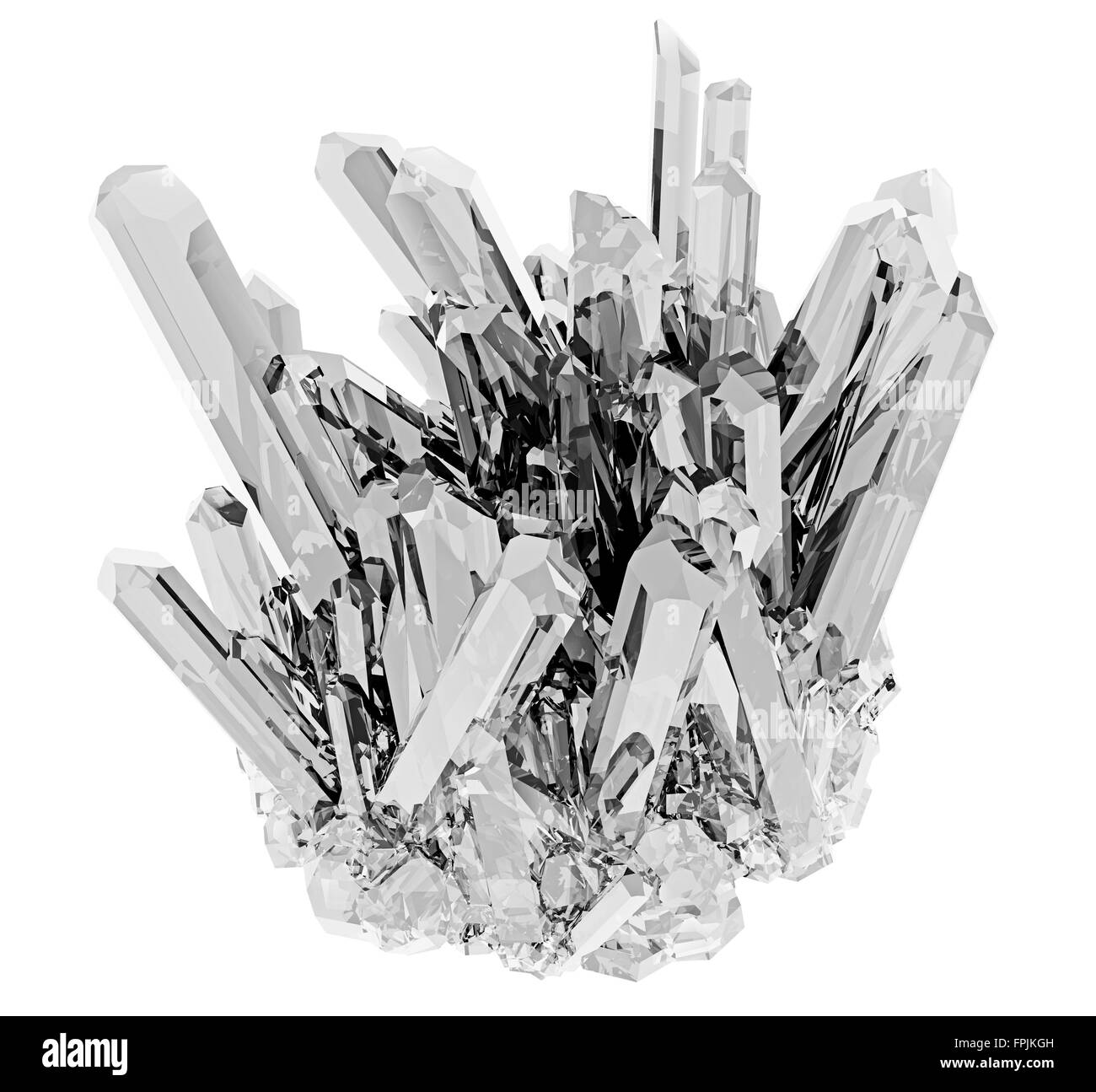Crystal on a white background isolated - Stock Image