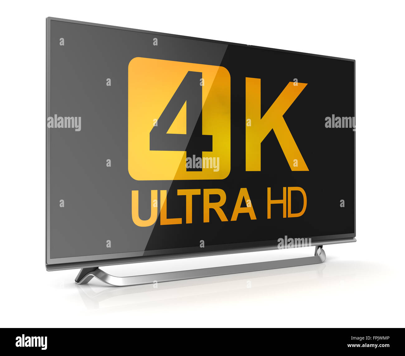 4K ultra hd tv , This is a computer generated and 3d rendered picture. - Stock Image
