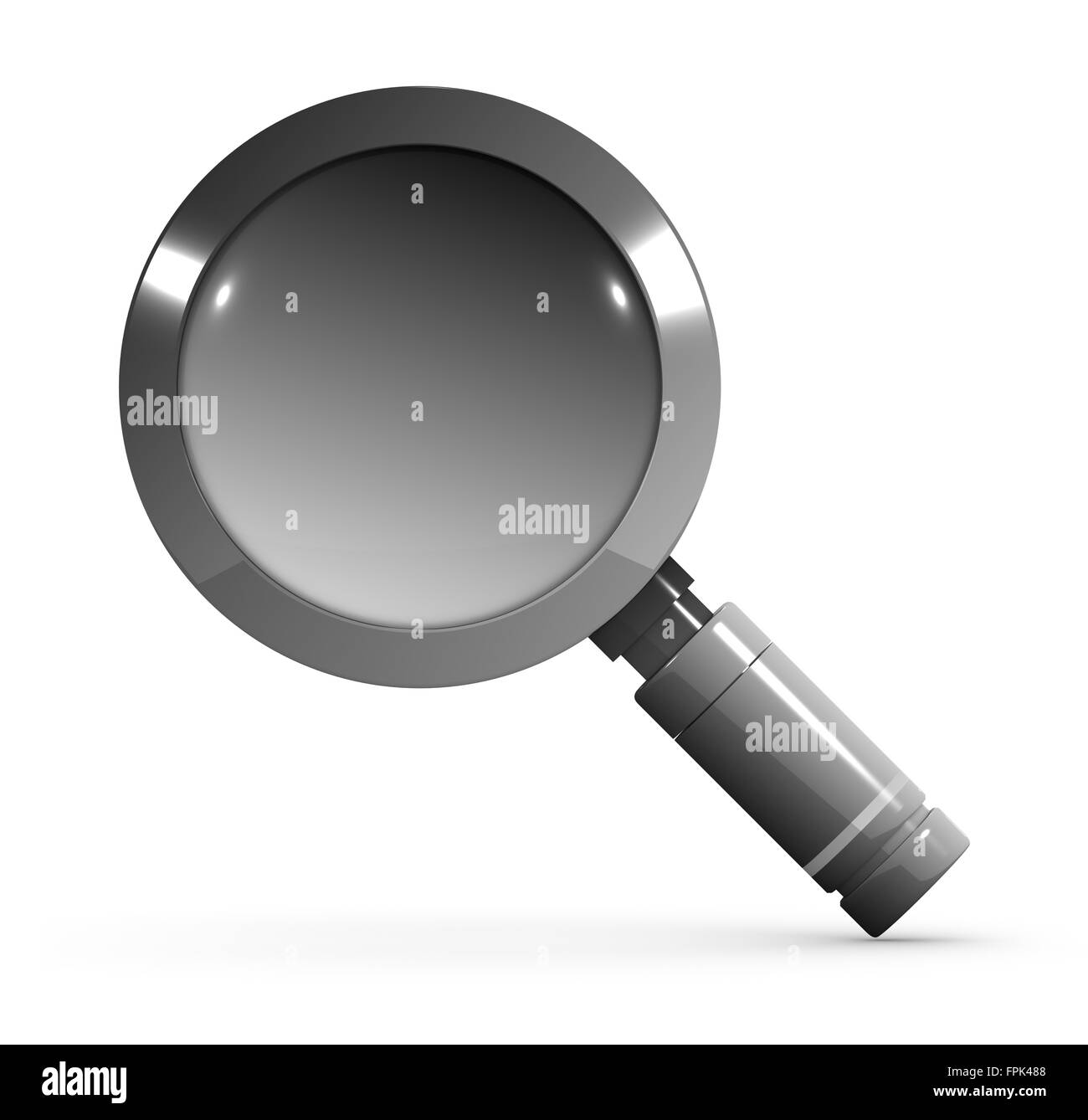 Magnify glass , This is a computer generated and 3d rendered picture. - Stock Image