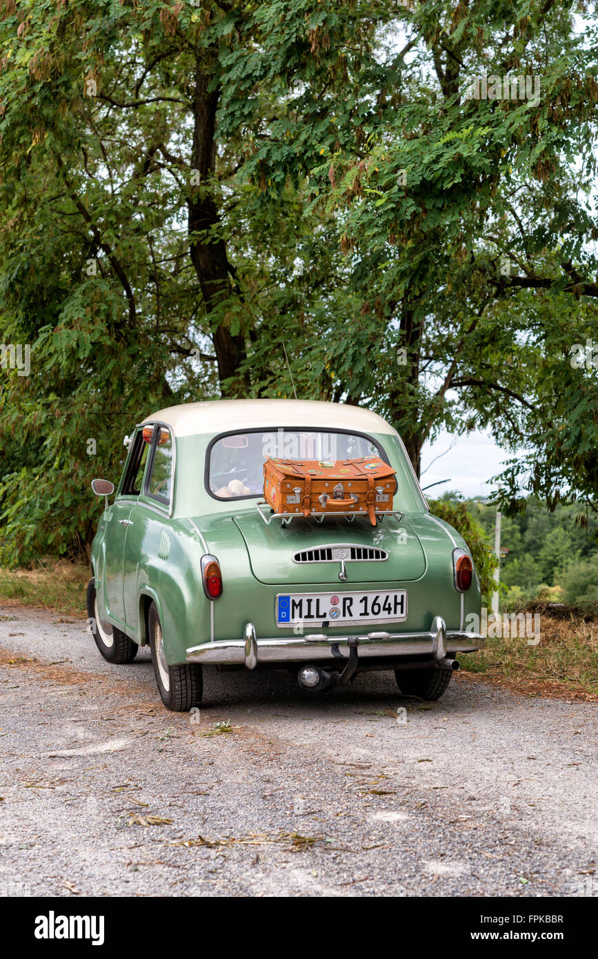 Elsenfeld, Bavaria, Germany, Goggomobil T. 250, year of manufacture 1965, cubic capacity 250 cubic centimetres, - Stock Image
