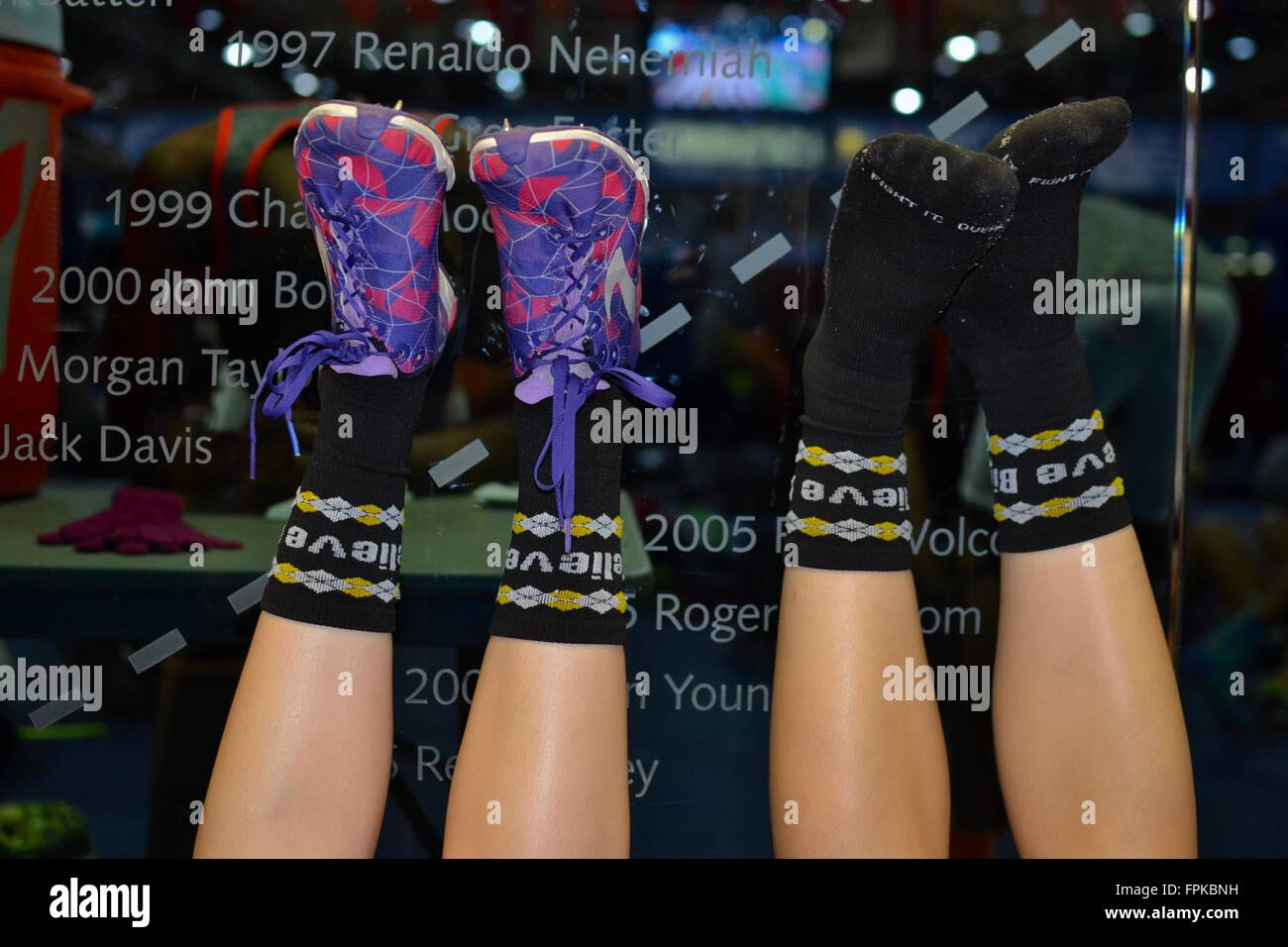Runners' feet - Stock Image