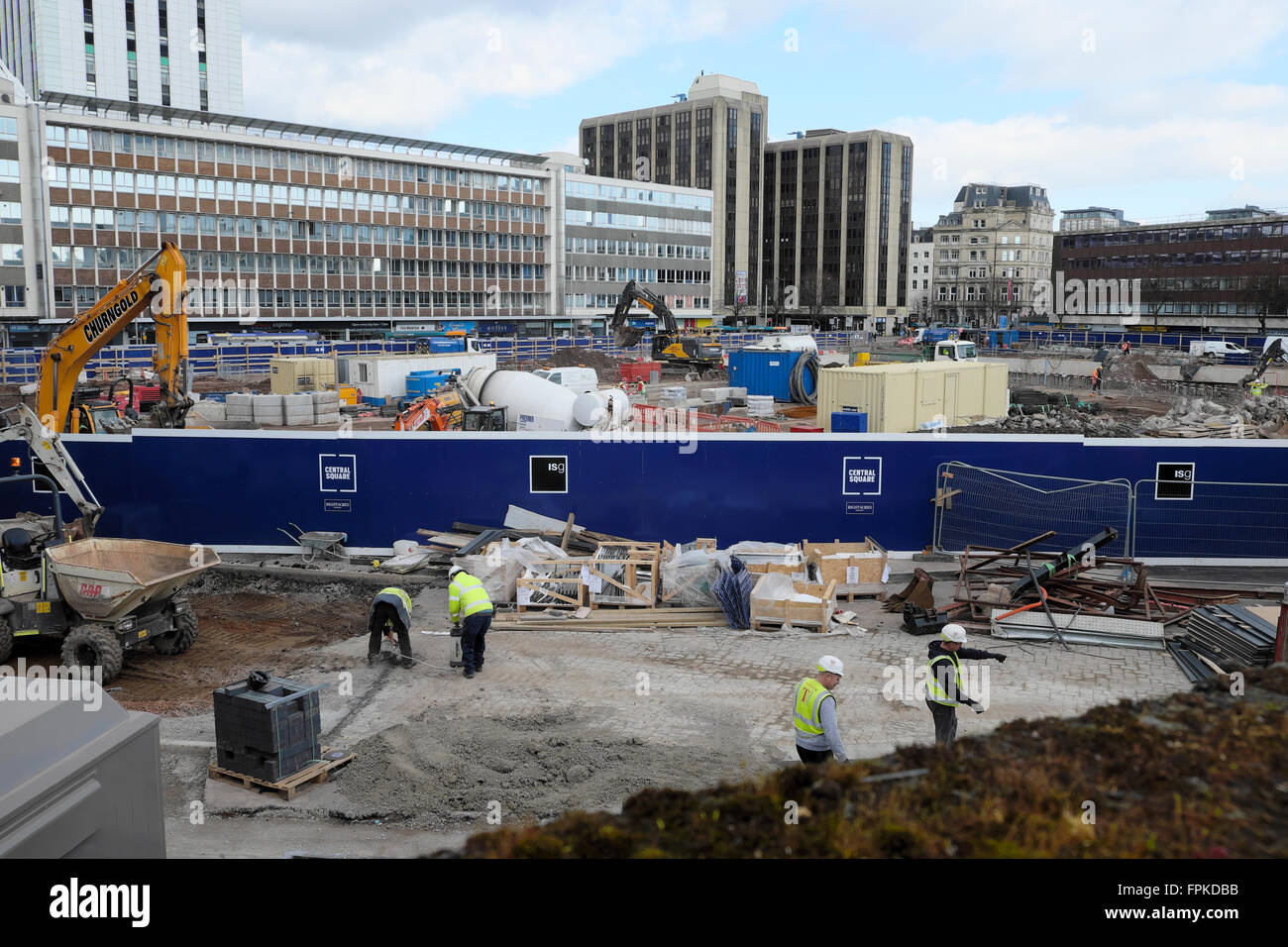 Regeneration of Central Square in Cardiff City Centre Wales UK   KATHY DEWITT - Stock Image