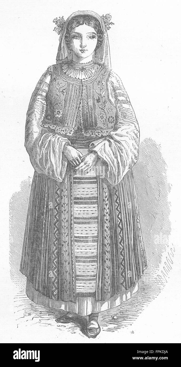 COSTUME Wallachian peasant-girl antique print 1880 - Stock Image  sc 1 st  Alamy & Peasant Costume Stock Photos u0026 Peasant Costume Stock Images - Alamy