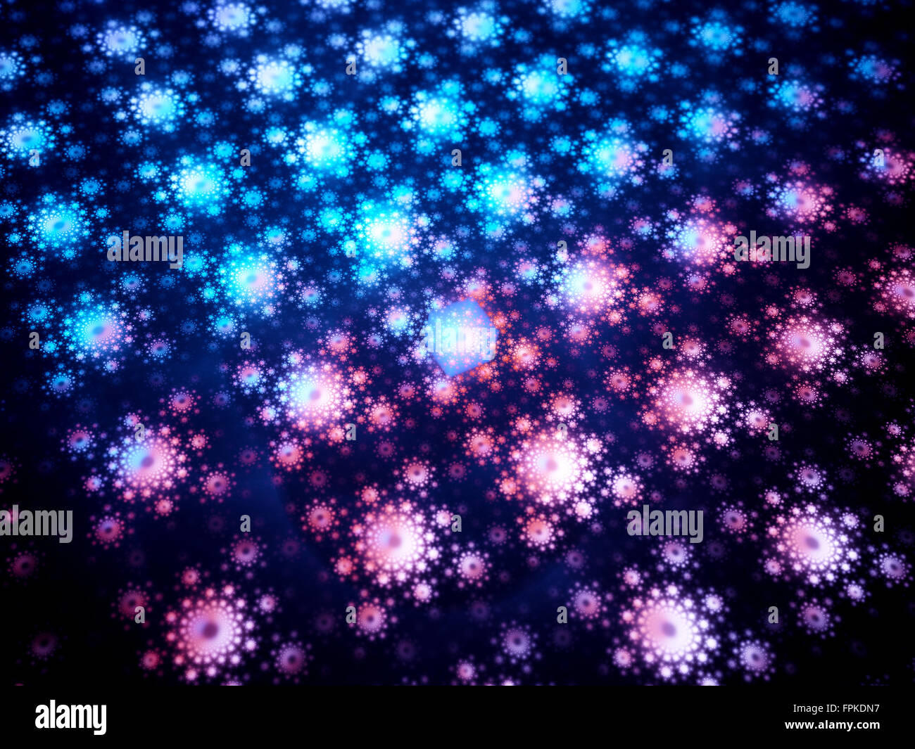 Futuristic quantum chipset fractal, computer generated abstract background - Stock Image