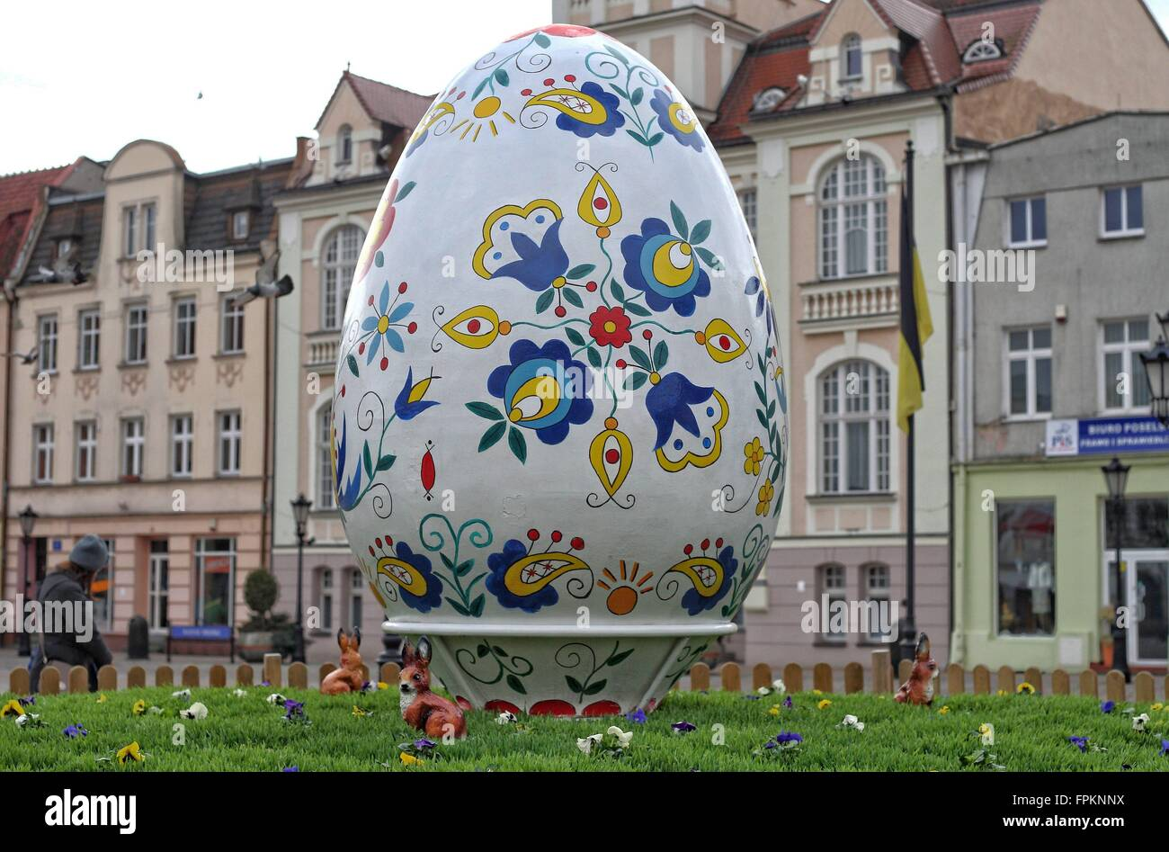 Wejherowo Poland 19th March 2016 Giant Easter Egg Painted In The Traditional Kashubian Patterns