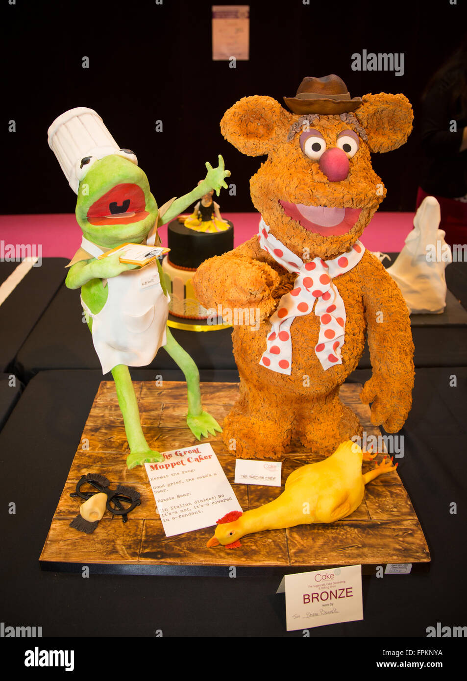 Birmingham, UK  19th March, 2016  Muppets characters Kermit
