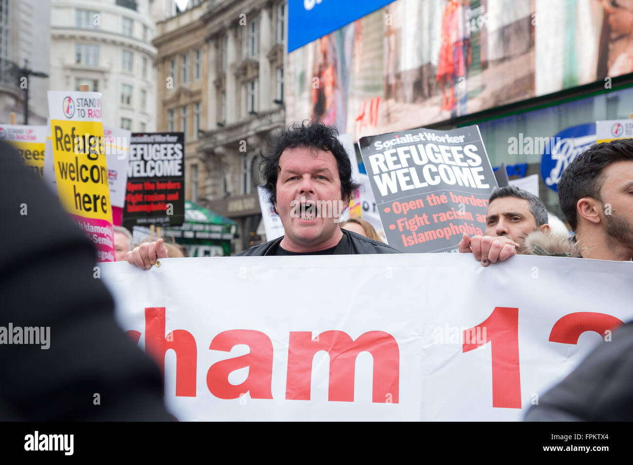 London, UK. 19th March 2016  Thousands of marchers during the anti Racism march held in London, UK  Credit: Pete - Stock Image