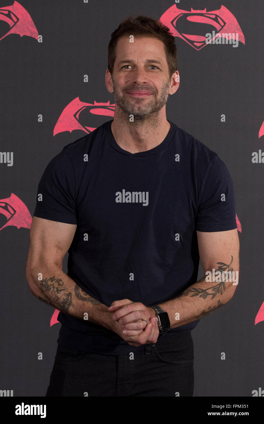 Mexico City, Mexico. 19th Mar, 2016. Director Zack Snyder poses during the photocall to promote the film Batman - Stock Image