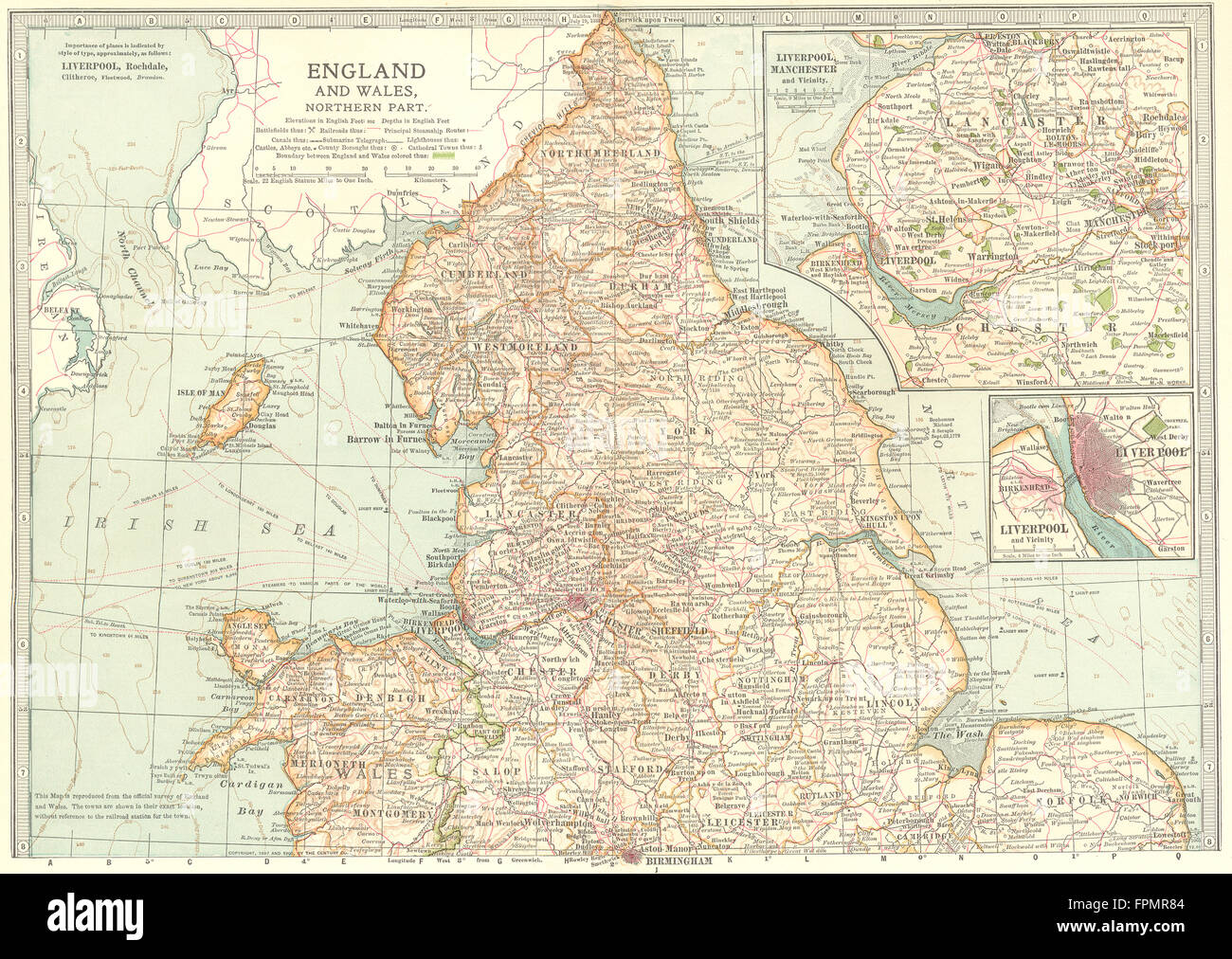 ENGLAND WALES N.Shows Civil War of the Roses Barons Wars battlefields 1903 map