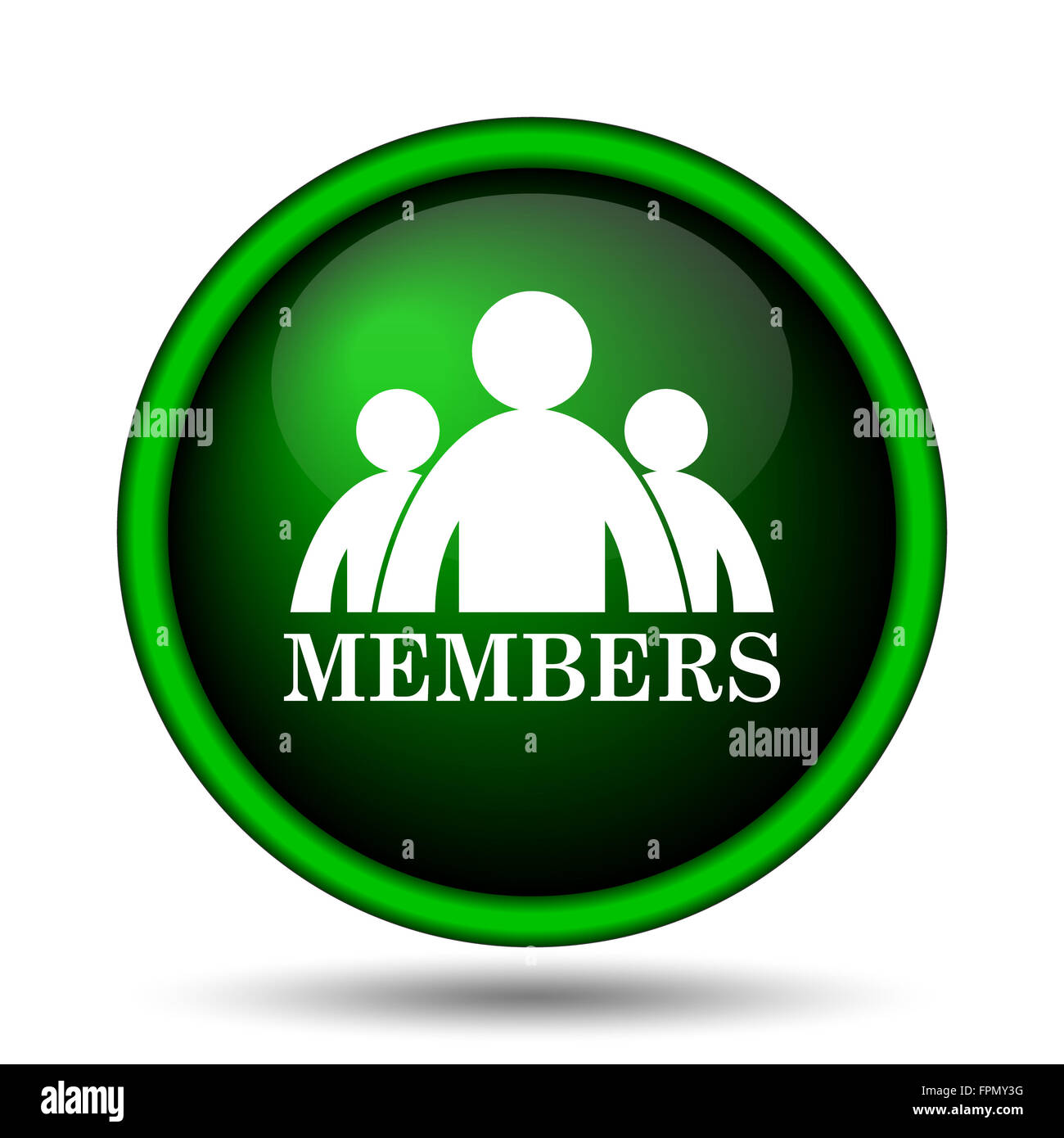 Members icon. Internet button on white background. - Stock Image