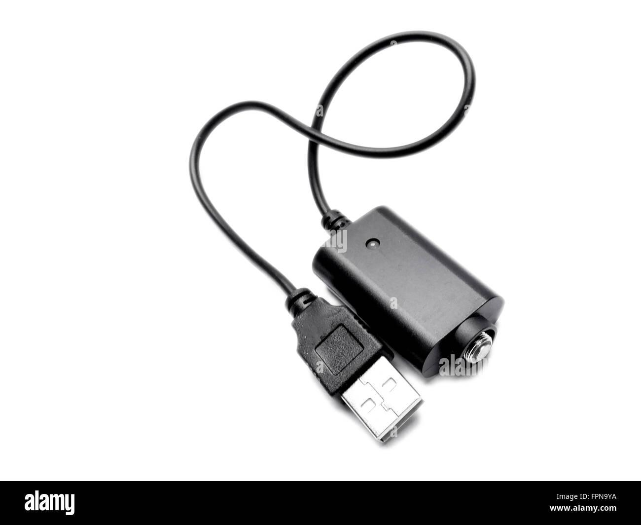 Electronic cigarette, E-cigarette business, E-cigarette usb charger - Stock Image