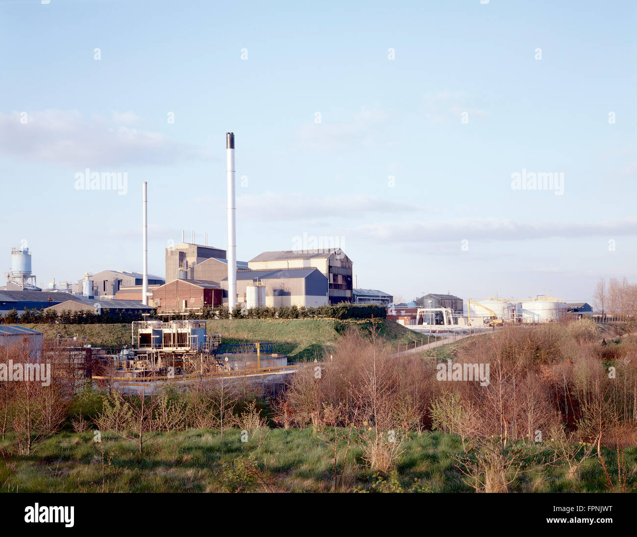 Small chemical plant, Widnes, England. - Stock Image