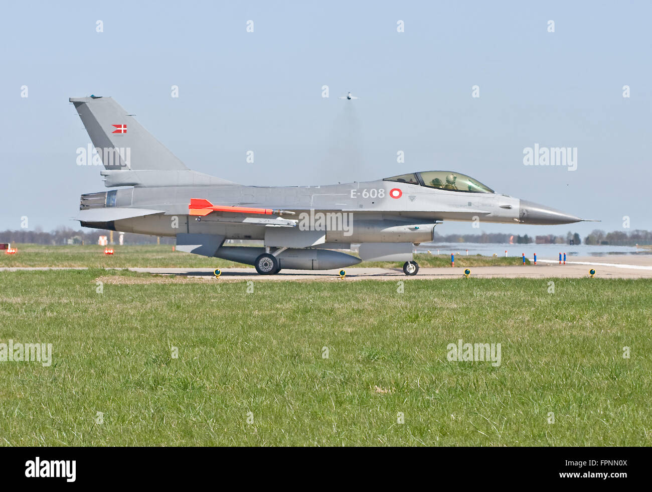 F-16AM Fighting Falcon, E-608 Royal Danish Air Force - Stock Image