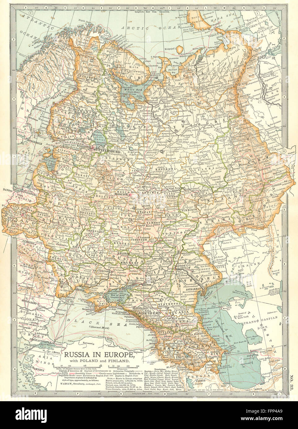 Russia in europe with poland finland caucasus georgia ukraine russia in europe with poland finland caucasus georgia ukraine 1903 map gumiabroncs Image collections