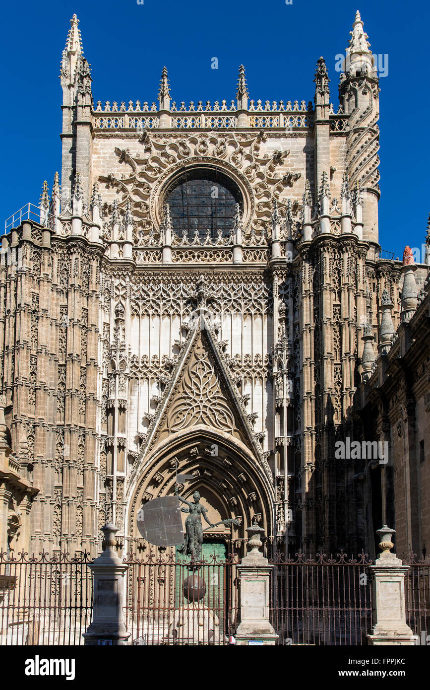 North Facade Or Door Of The Conception Of The Cathedral Seville