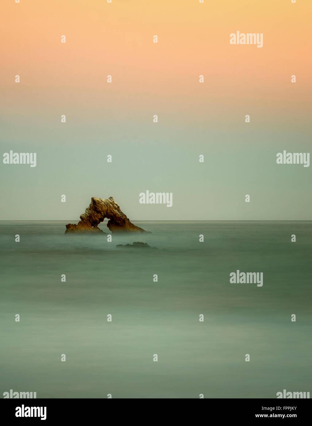 Arch Rock. Corona Del Mar, California - Stock Image
