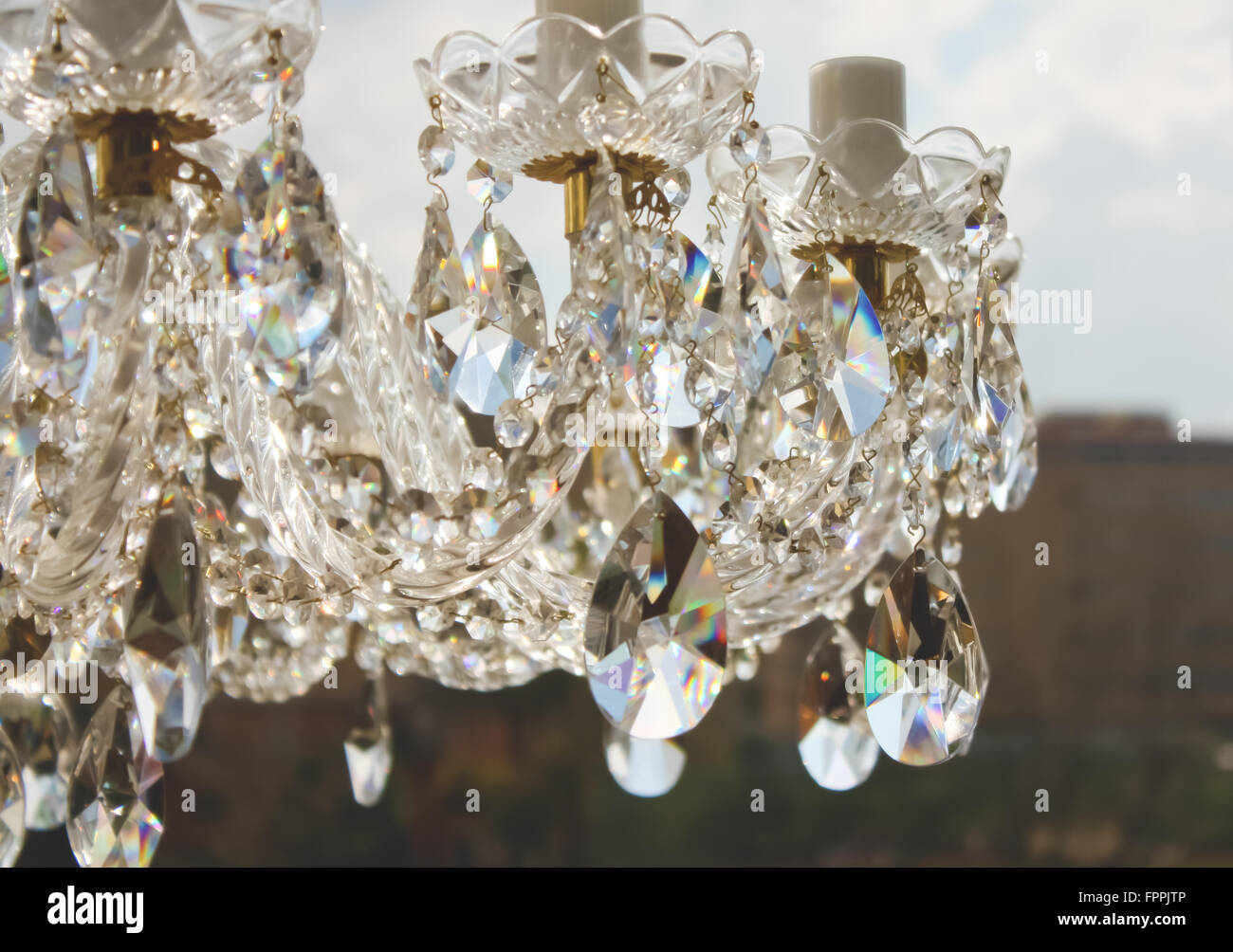new product 857c5 150fd Outdoor Crystal Chandelier Stock Photos & Outdoor Crystal ...