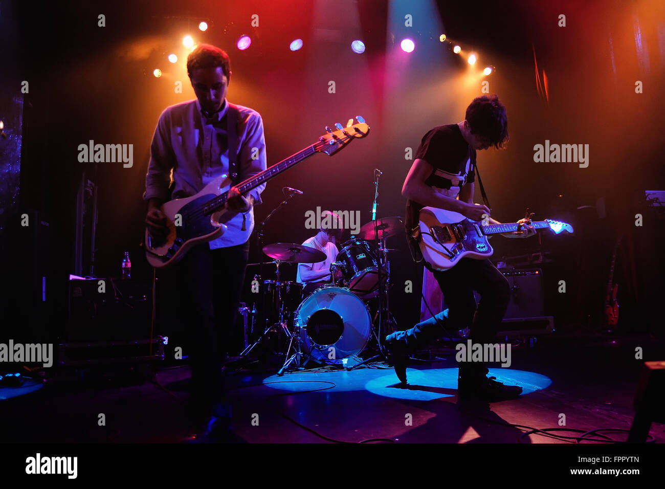 BARCELONA - JUN 20: The Pains of Being Pure at Heart band performs at Apolo on June 20, 2011 in Barcelona, Spain. - Stock Image