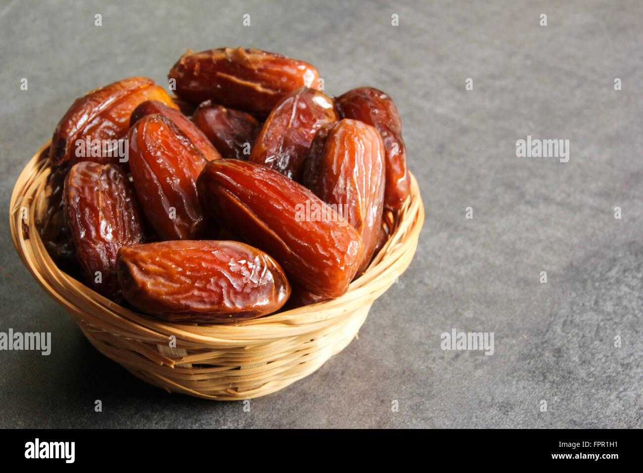 Dried Date Healthy snack - Stock Image