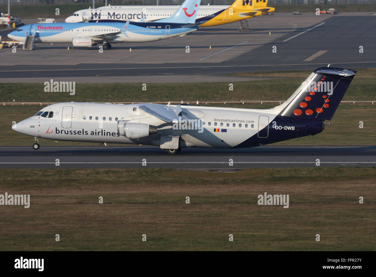 BRUSSELS AIRLINES RJ AVRO - Stock Image