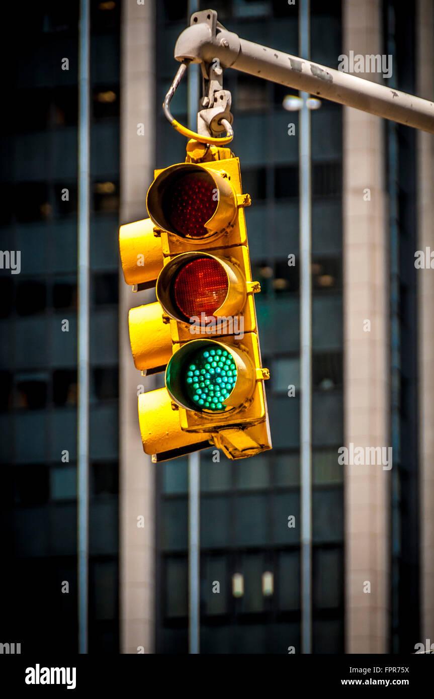 Traffic Lights, New York City, USA - Stock Image
