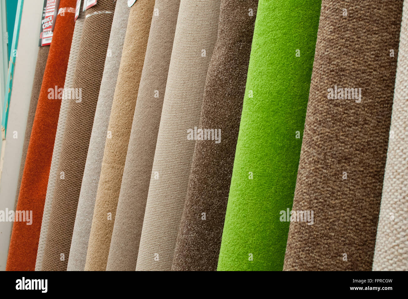 CarpetRight retail store products on display. - Stock Image